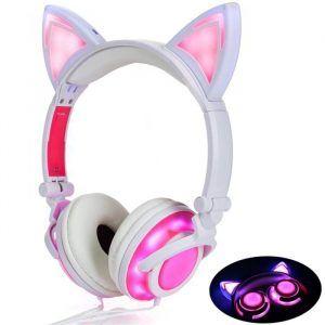 Auriculares orejas de gato