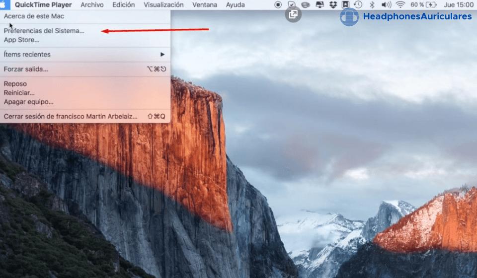 preferencias de sonido de mac