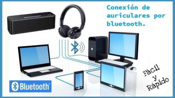 auriculares conectados por bluetooth a los dispositivos