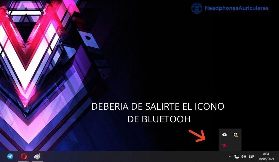 Busca el icono de Bluetooth
